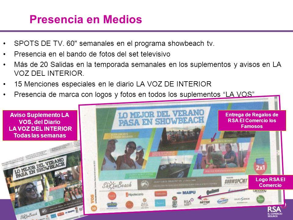 SPOTS DE TV. 60