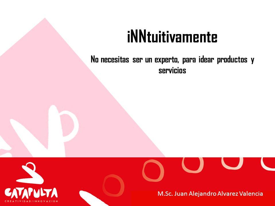 iNNtuitivamente No necesitas ser un experto, para idear productos y servicios M.Sc. Juan Alejandro Alvarez Valencia