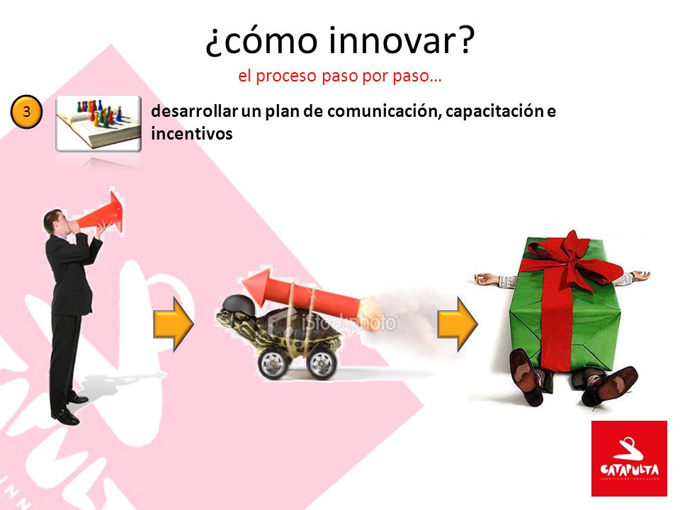 ¿cómo innovar? el proceso paso por paso… desarrollar un plan de comunicación, capacitación e incentivos 3