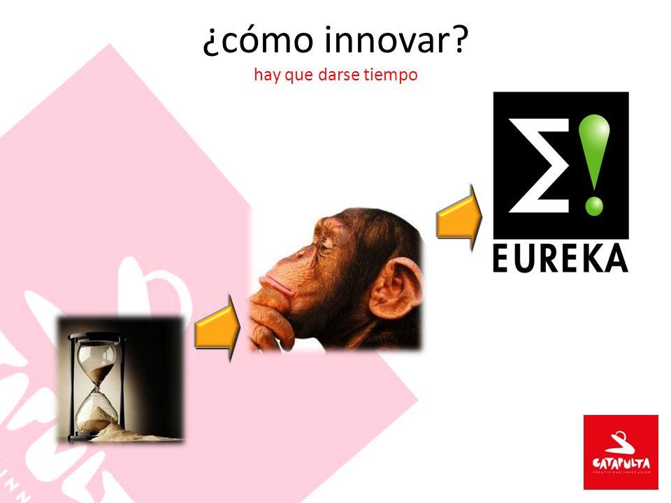 ¿cómo innovar? hay que darse tiempo