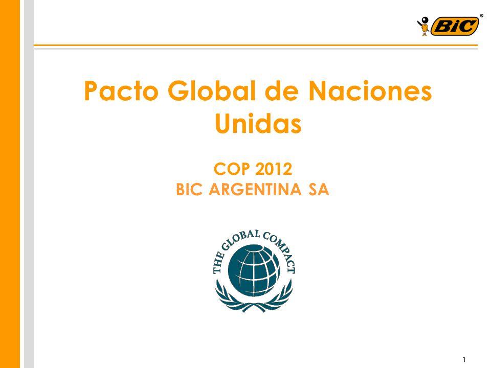 1 Pacto Global de Naciones Unidas COP 2012 BIC ARGENTINA SA