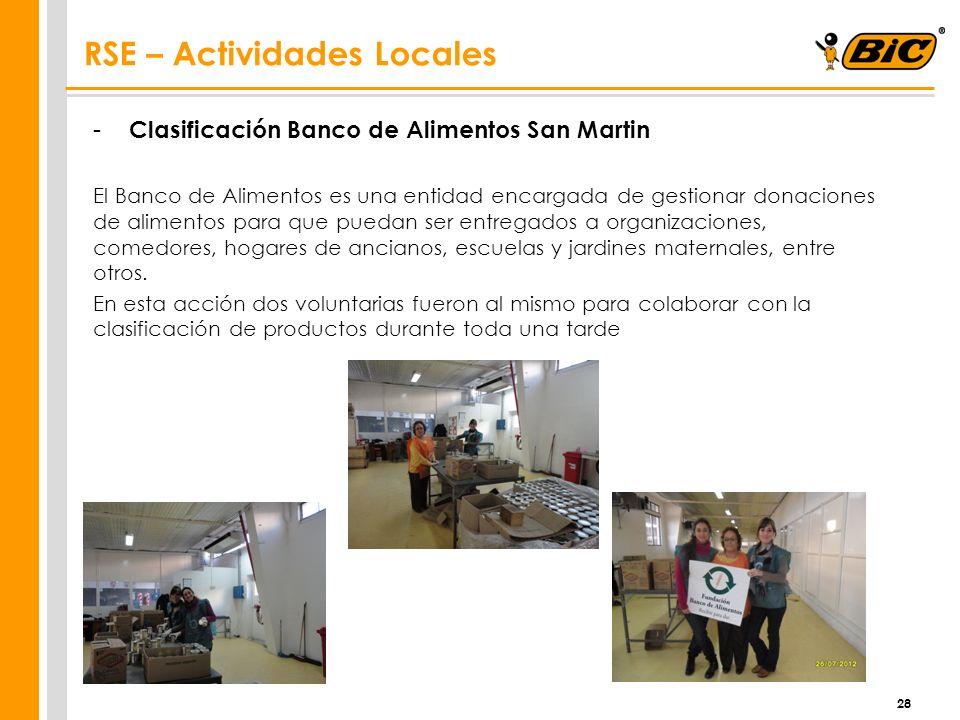 - Clasificación Banco de Alimentos San Martin El Banco de Alimentos es una entidad encargada de gestionar donaciones de alimentos para que puedan ser