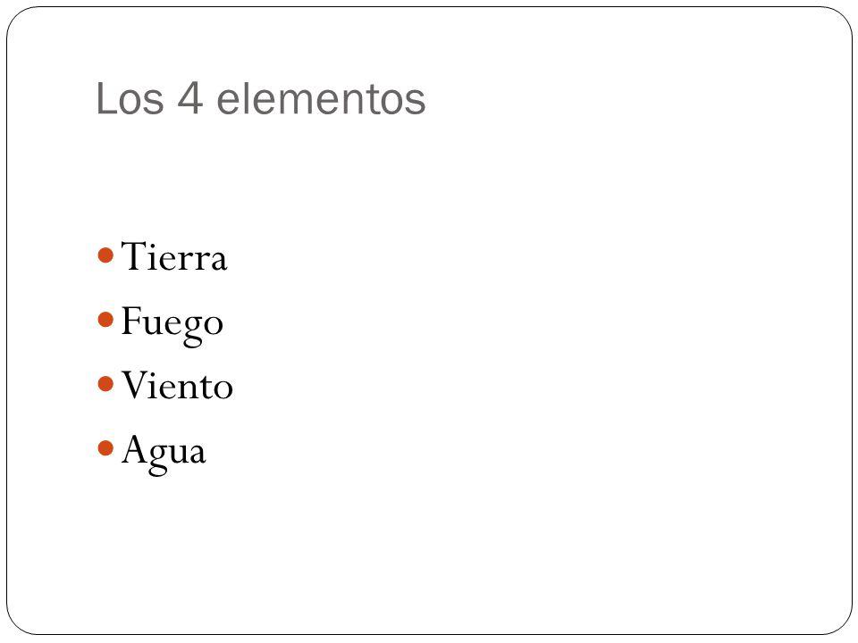 Los 4 elementos Tierra Fuego Viento Agua