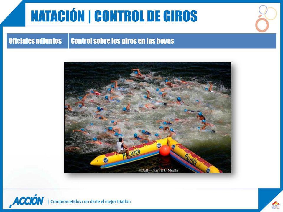 Oficiales adjuntosControl sobre los giros en las boyas NATACIÓN | CONTROL DE GIROS