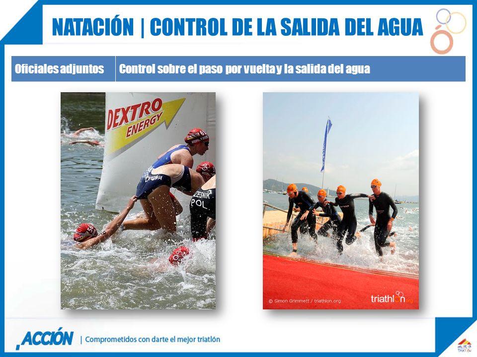 Oficiales adjuntosControl sobre el paso por vuelta y la salida del agua NATACIÓN | CONTROL DE LA SALIDA DEL AGUA