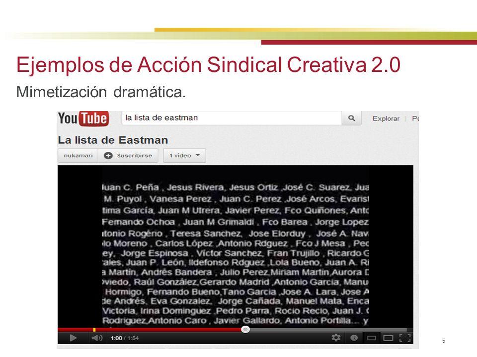© 2013 Baker & McKenzie Madrid, S.L.P. 5 Ejemplos de Acción Sindical Creativa 2.0 Mimetización dramática.