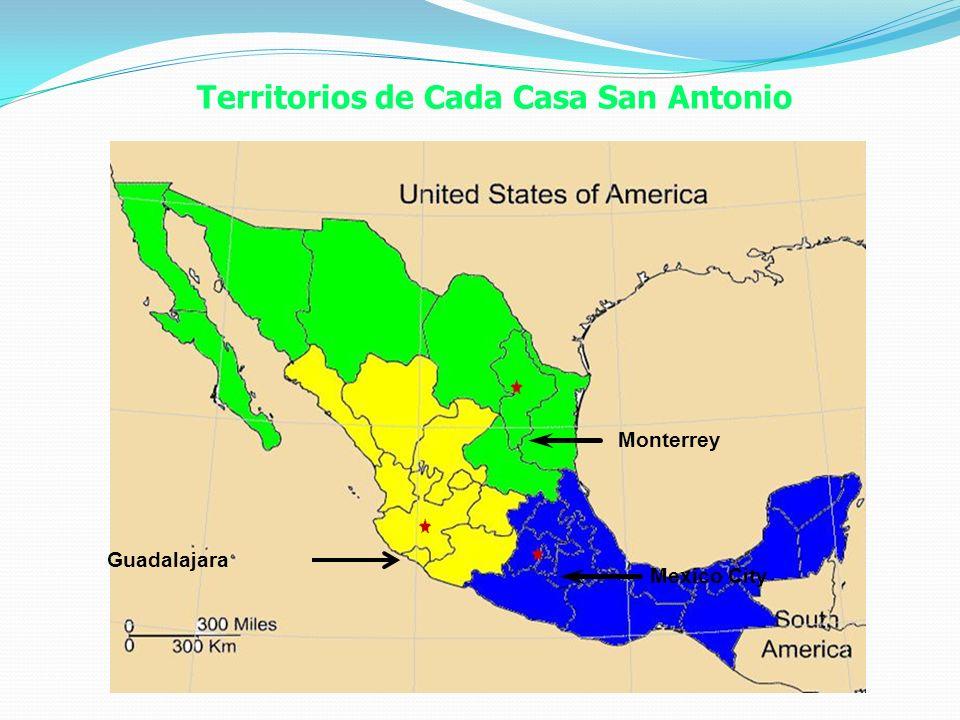 Territorios de Cada Casa San Antonio Monterrey Mexico City Guadalajara