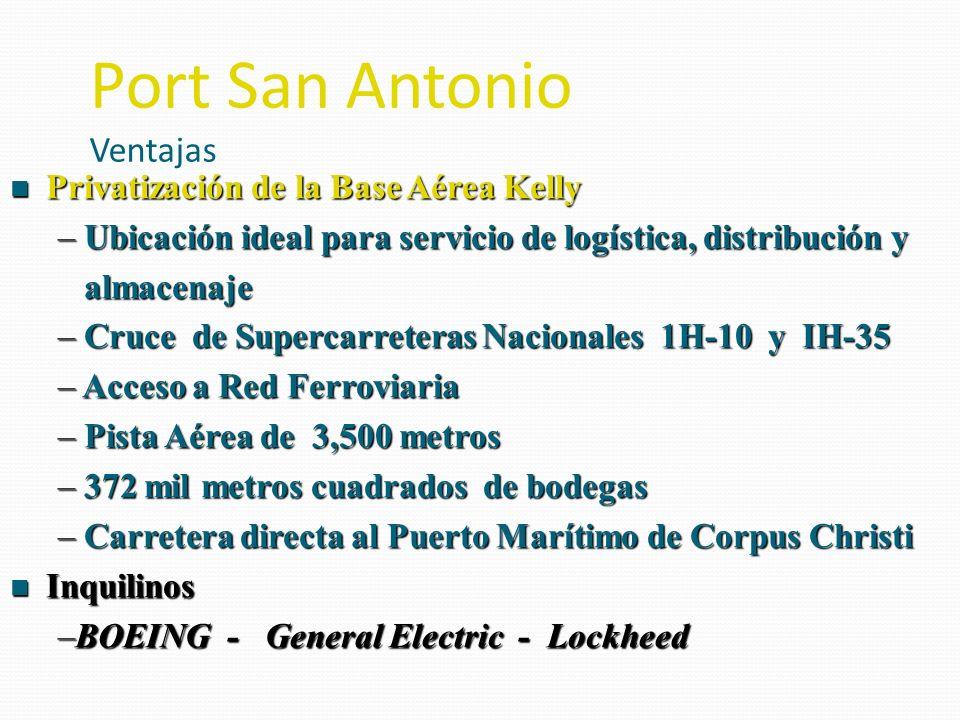n Privatización de la Base Aérea Kelly – Ubicación ideal para servicio de logística, distribución y almacenaje almacenaje – Cruce de Supercarreteras N