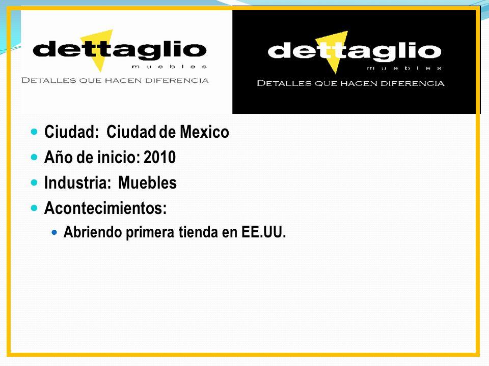 Ciudad: Ciudad de Mexico Año de inicio: 2010 Industria: Muebles Acontecimientos: Abriendo primera tienda en EE.UU.