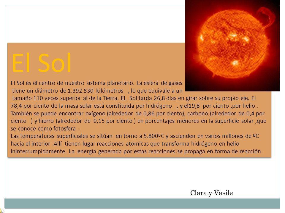 El Sol El Sol es el centro de nuestro sistema planetario.