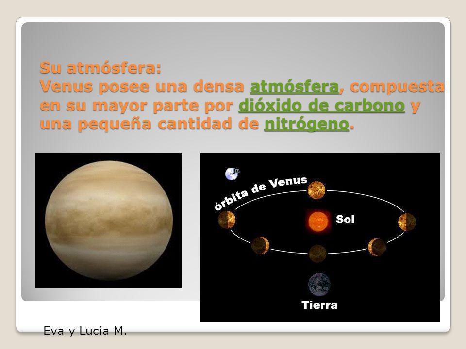 Venus es el segundo planeta del Sistema Solar en orden de distancia desde el Sol, y el tercero en cuanto a tama ñ o, de menor a mayor. Recibe su nombr