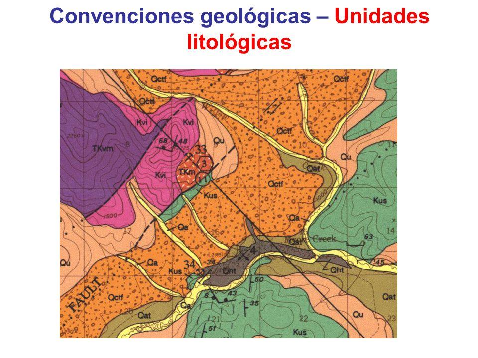 Convenciones geológicas – Estructuras