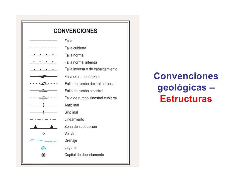 Convenciones geológicas – Estrucuras Páginas 47-97, documento USGS