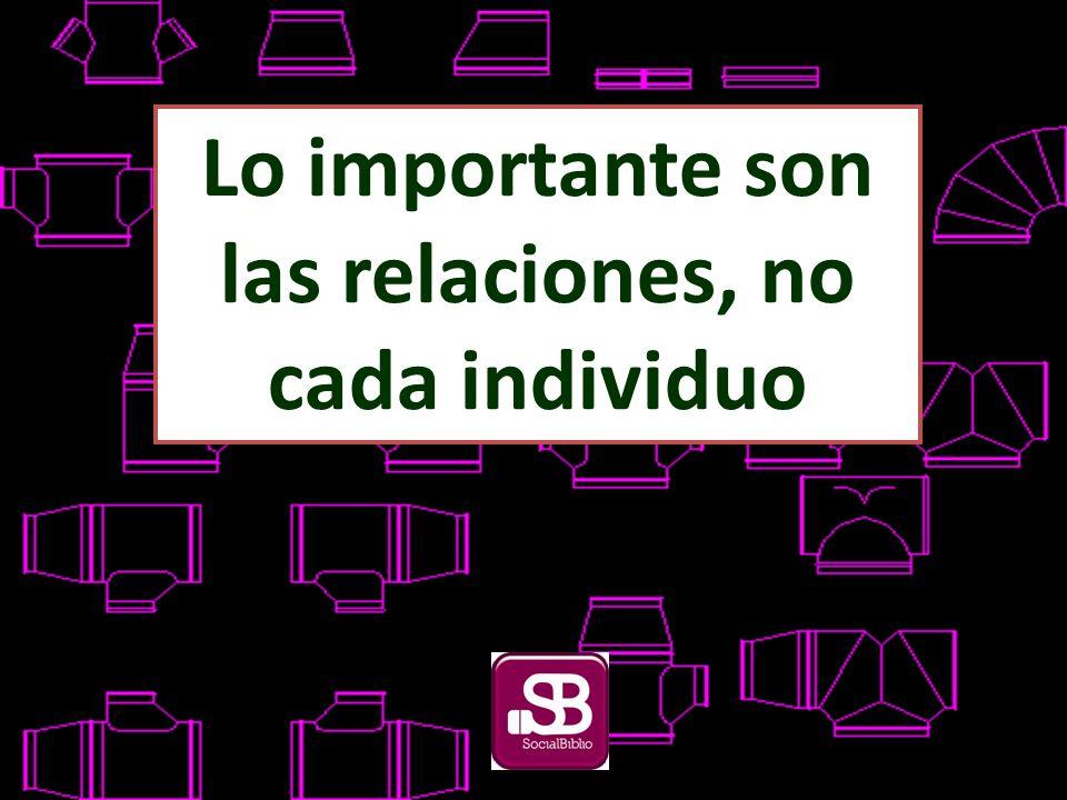 Lo importante son las relaciones, no cada individuo