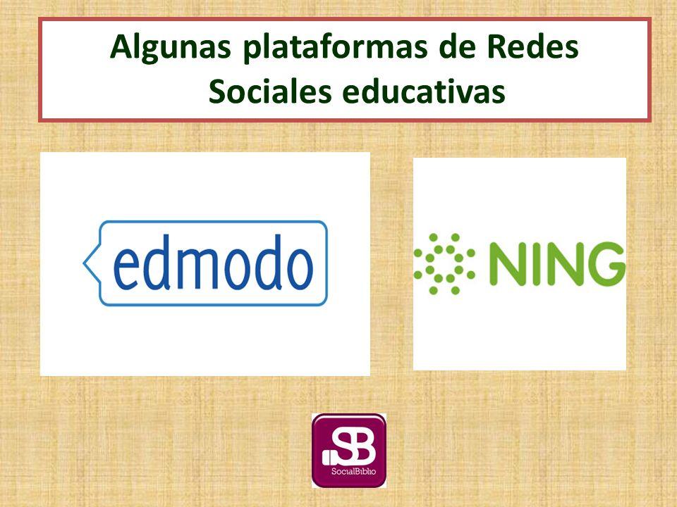 Algunas plataformas de Redes Sociales educativas