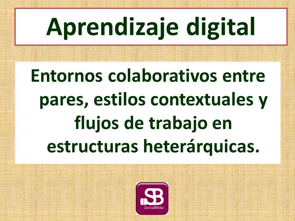 Entornos colaborativos entre pares, estilos contextuales y flujos de trabajo en estructuras heterárquicas.