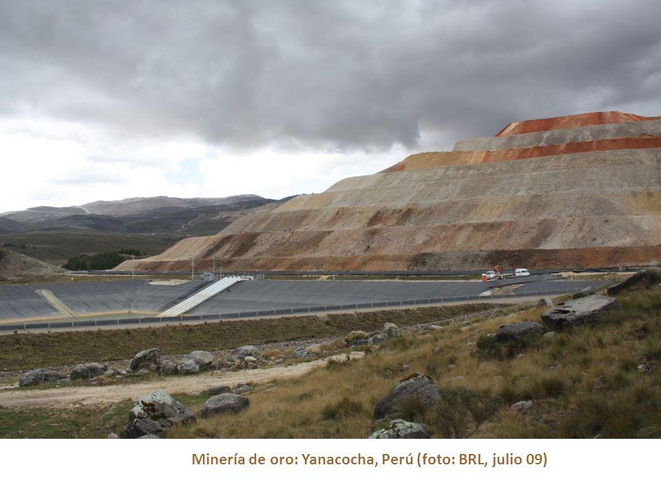 Minería de oro: Yanacocha, Perú (foto: BRL, julio 09)