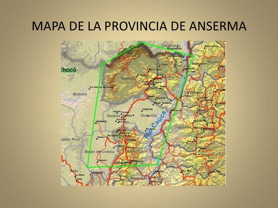 MAPA DE LA PROVINCIA DE ANSERMA