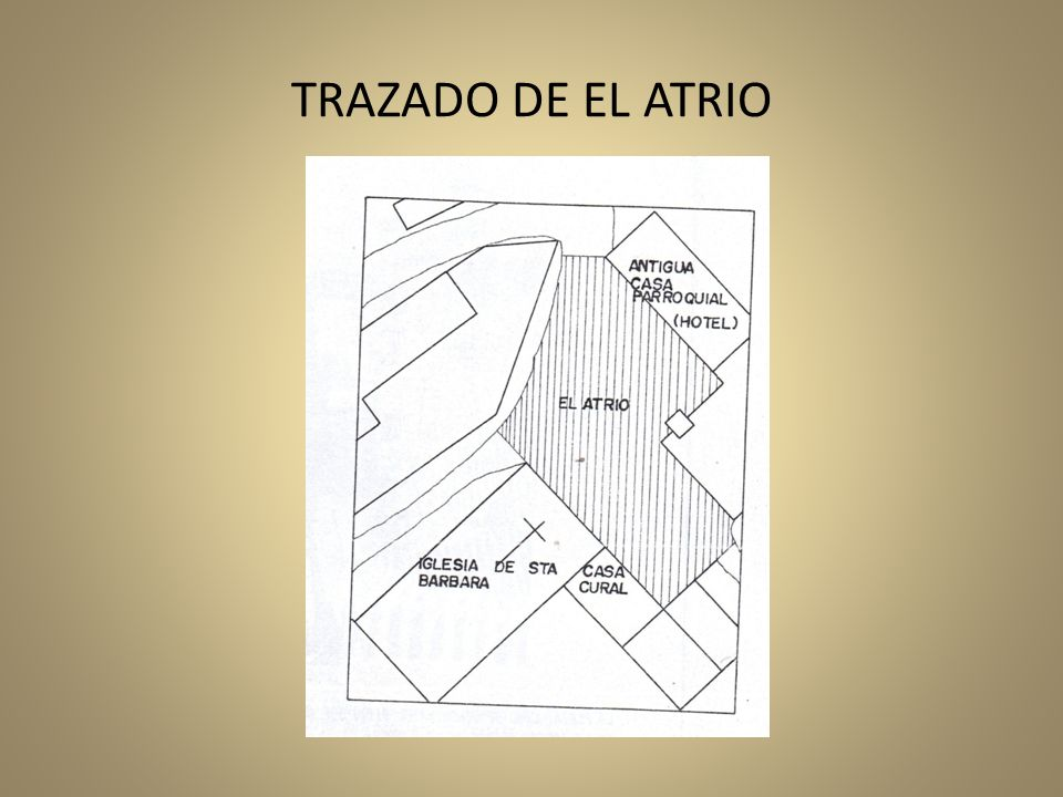 TRAZADO DE EL ATRIO