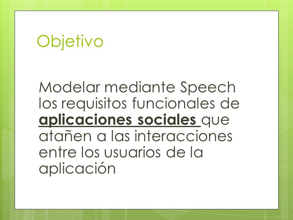 El lenguaje Speech Un lenguaje para la programación de aplicaciones sociales basado en abstracciones sociales Lenguaje específico de dominio Vs.