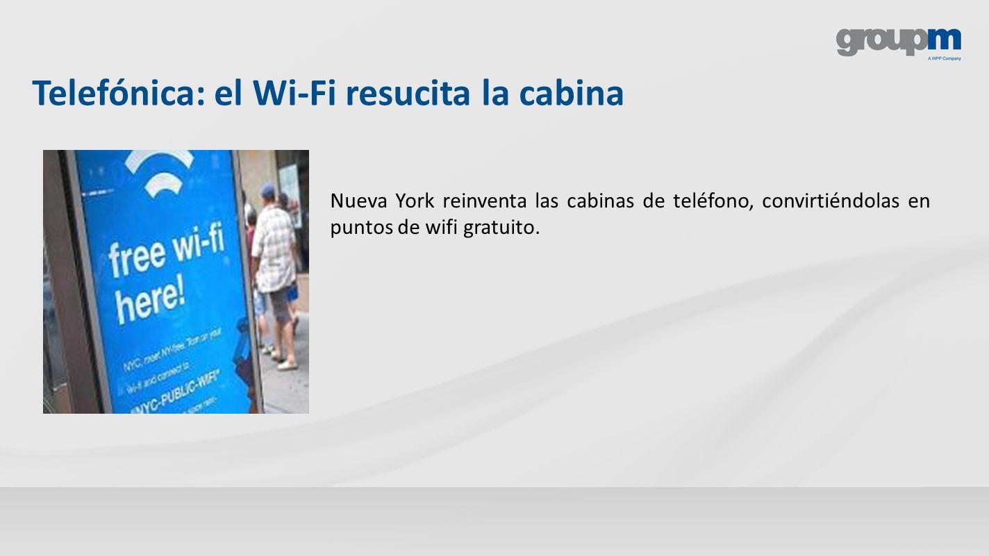 Telefónica: el Wi-Fi resucita la cabina Nueva York reinventa las cabinas de teléfono, convirtiéndolas en puntos de wifi gratuito.