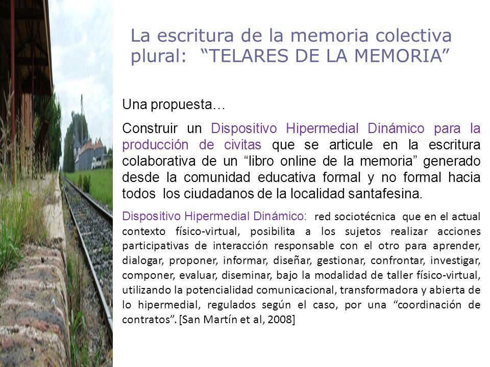 Características de Telares de la memoria los constructores, las obras abiertas, los espacios habitados, el hoy lo que deseamos en el espacio-tiempo de mi comunidad.
