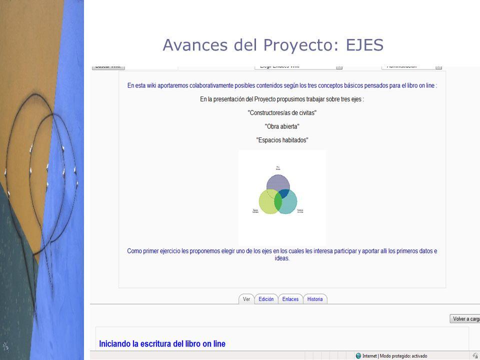 Avances del Proyecto: EJES