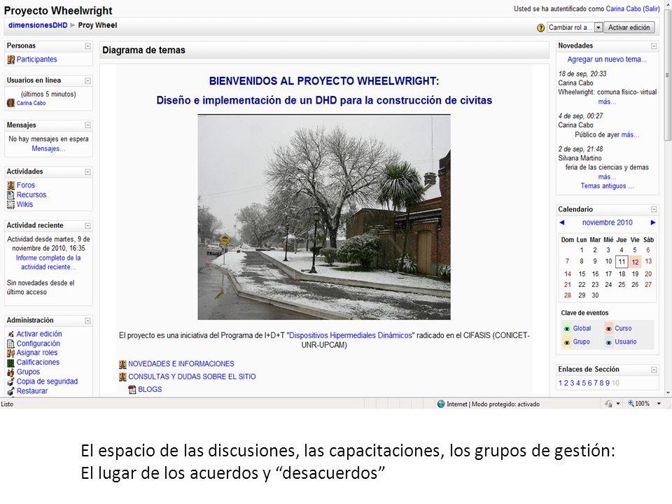 El espacio de las discusiones, las capacitaciones, los grupos de gestión: El lugar de los acuerdos y desacuerdos
