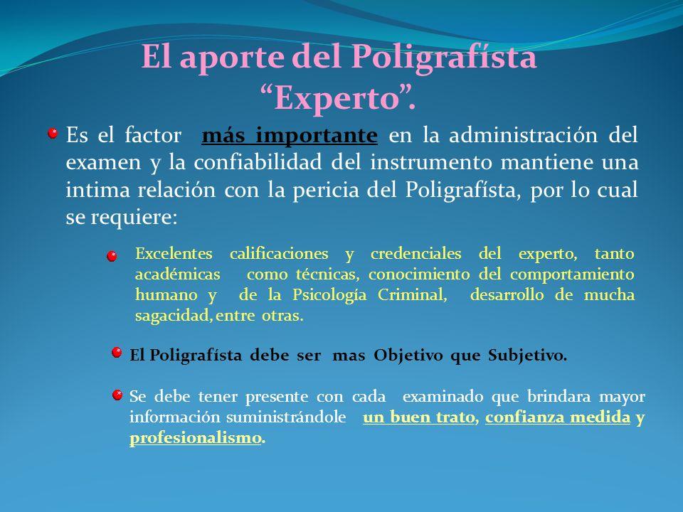 El polígrafo como ayuda a la Investigación y a la Prevención. La mayoría de infractores a la ley penal, parten del supuesto de que toda conducta punib