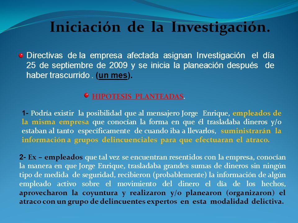 Parte de : - Un Hecho (Conducta Delictiva). - De un Lugar de los Hechos. - De unos sospechosos, Testigos y la misma VÍCTIMA. - Pesquisas Investigativa