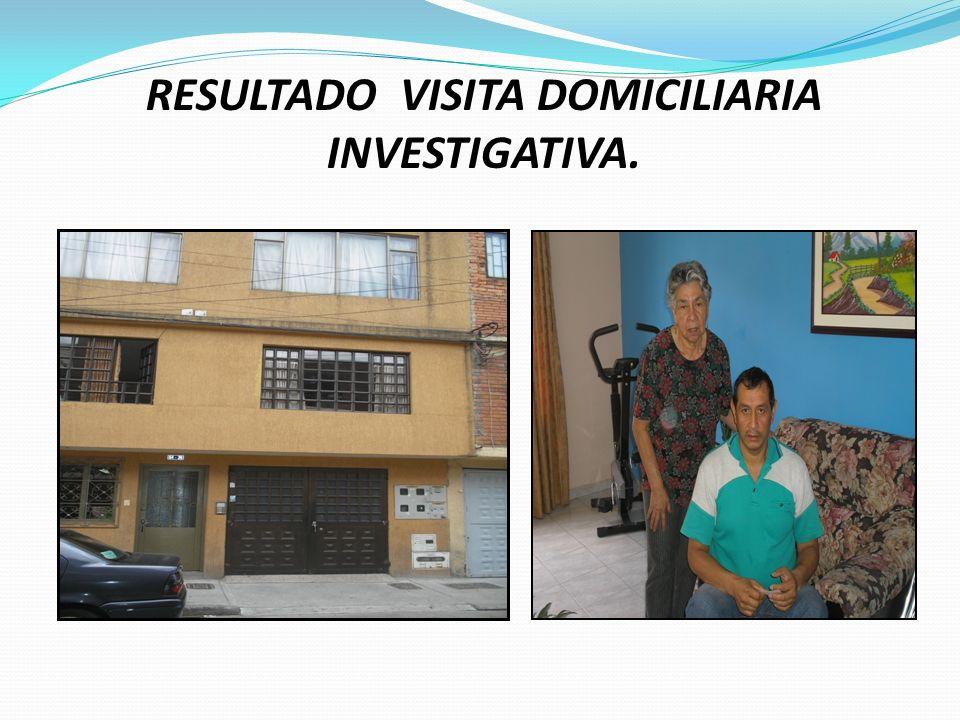 ACTIVIDADES PRELIMINARES A REALIZAR. Visita Domiciliaria Investigativa a la casa del afectado Jorge Enrique Muñoz- Mensajero atracado. Citar a Evaluac