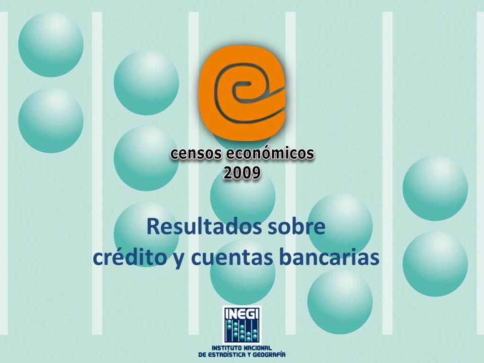 Resultados sobre crédito y cuentas bancarias