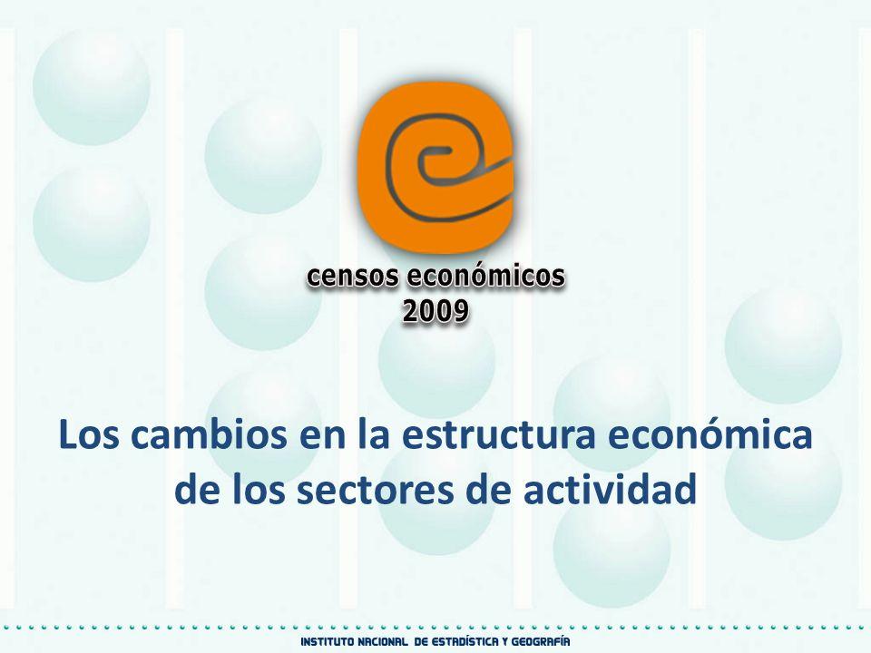 Los cambios en la estructura económica de los sectores de actividad