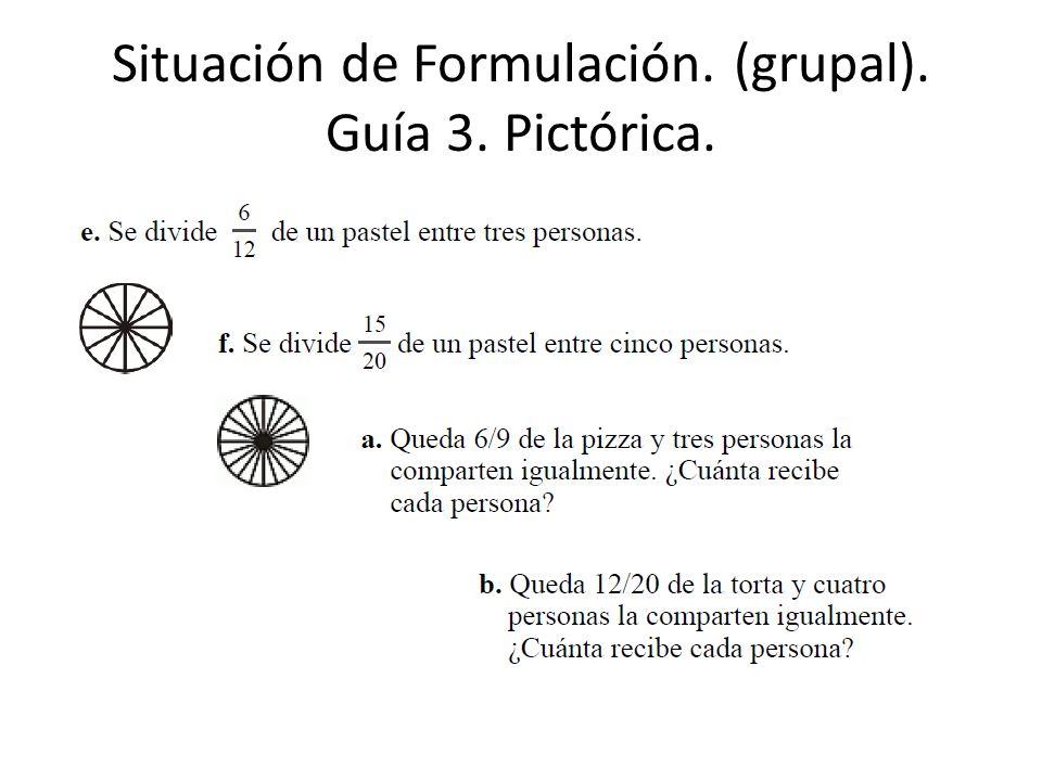 Situación de Formulación. (grupal). Guía 3. Pictórica.
