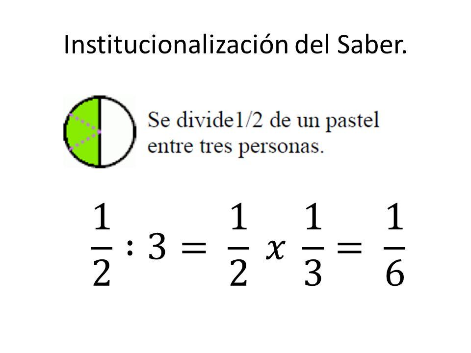 Institucionalización del Saber.
