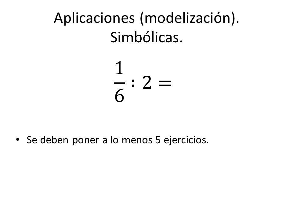 Aplicaciones (modelización). Simbólicas.