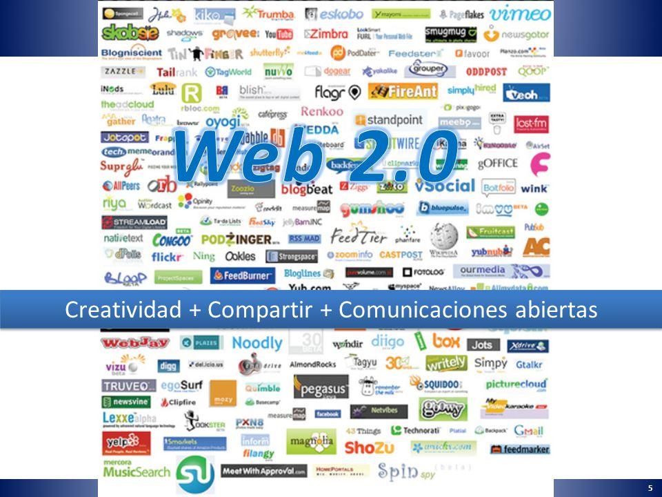 5 Creatividad + Compartir + Comunicaciones abiertas