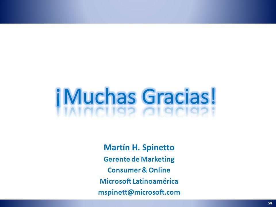 58 Martín H. Spinetto Gerente de Marketing Consumer & Online Microsoft Latinoamérica mspinett@microsoft.com