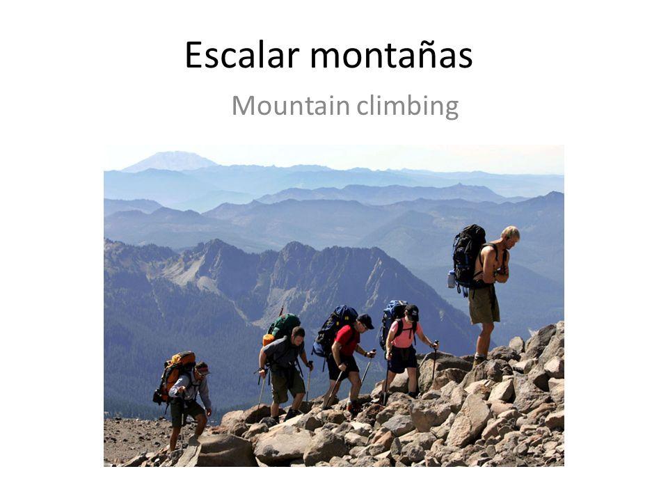 Escalar montañas Mountain climbing
