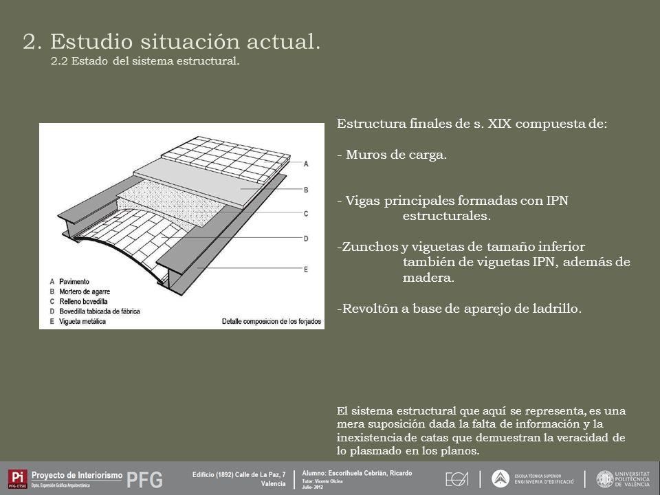 2.Estudio situación actual. 2.2 Estado del sistema estructural.
