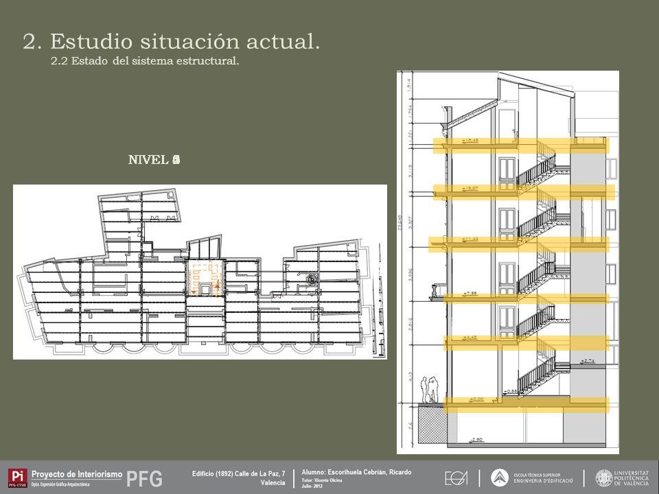 2.Estudio situación actual. NIVEL 1 2.2 Estado del sistema estructural.