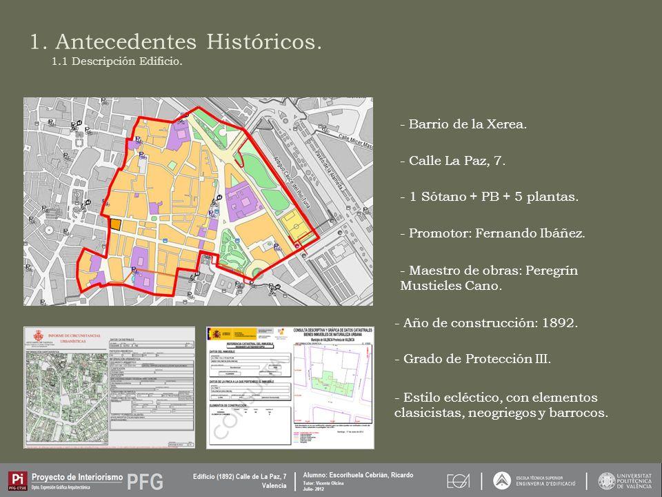1.Antecedentes Históricos. - Barrio de la Xerea. - Calle La Paz, 7.