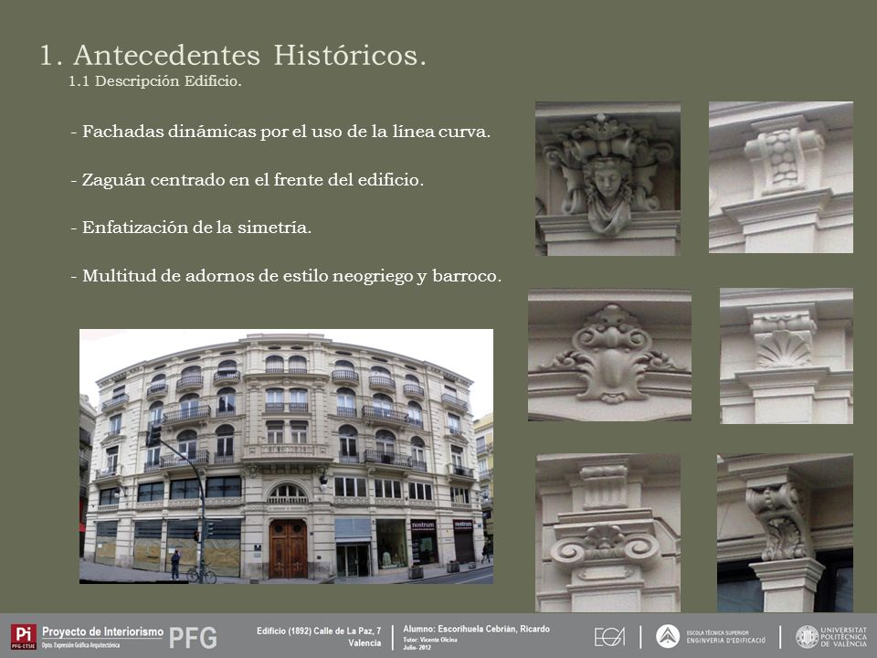 1.Antecedentes Históricos. - Calle de La Paz, antiguamente Peris y Valero por su iniciador.
