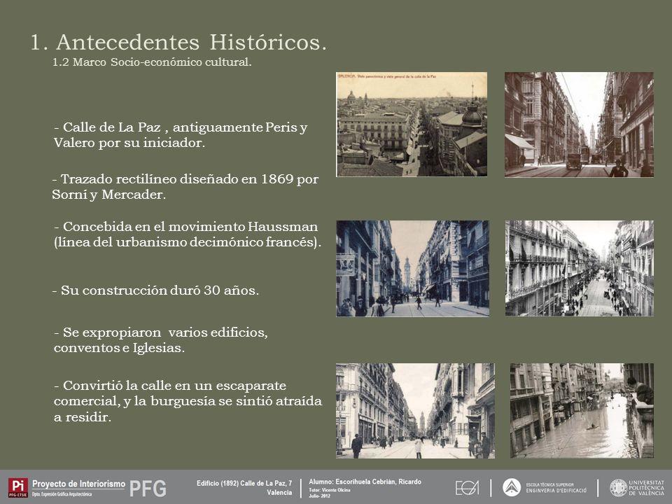 1. Antecedentes Históricos. 1.2 Marco Socio-económico cultural.