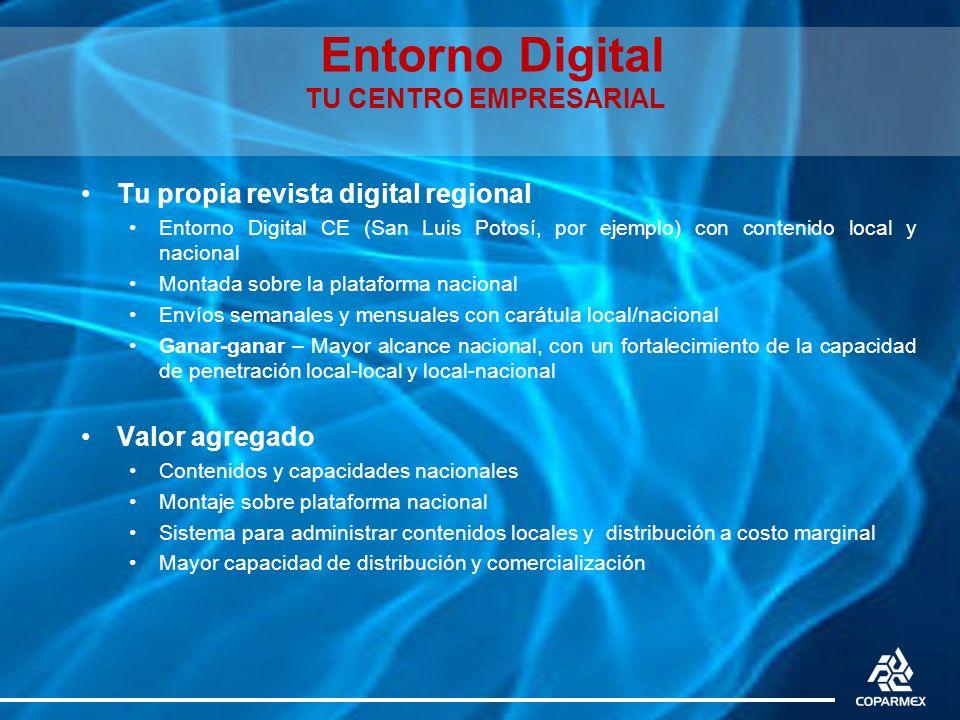 Entorno Digital TU CENTRO EMPRESARIAL Tu propia revista digital regional Entorno Digital CE (San Luis Potosí, por ejemplo) con contenido local y nacio