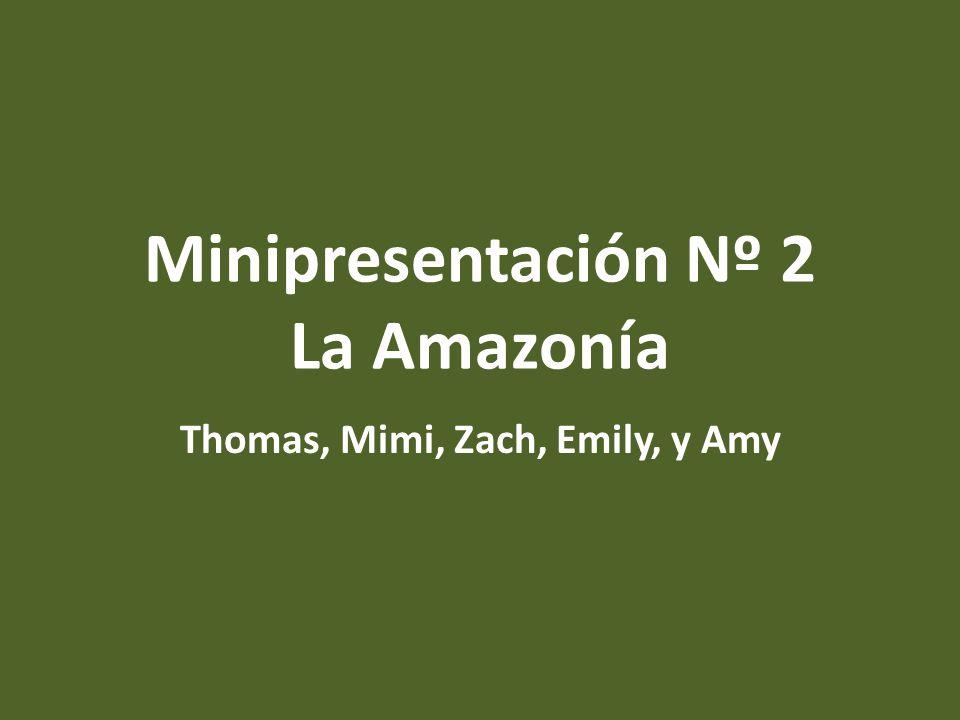 Minipresentación Nº 2 La Amazonía Thomas, Mimi, Zach, Emily, y Amy