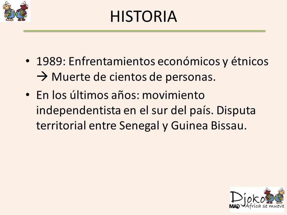 HISTORIA 1989: Enfrentamientos económicos y étnicos Muerte de cientos de personas. En los últimos años: movimiento independentista en el sur del país.