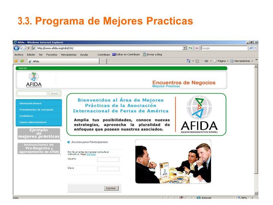 3.3. Programa de Mejores Practicas