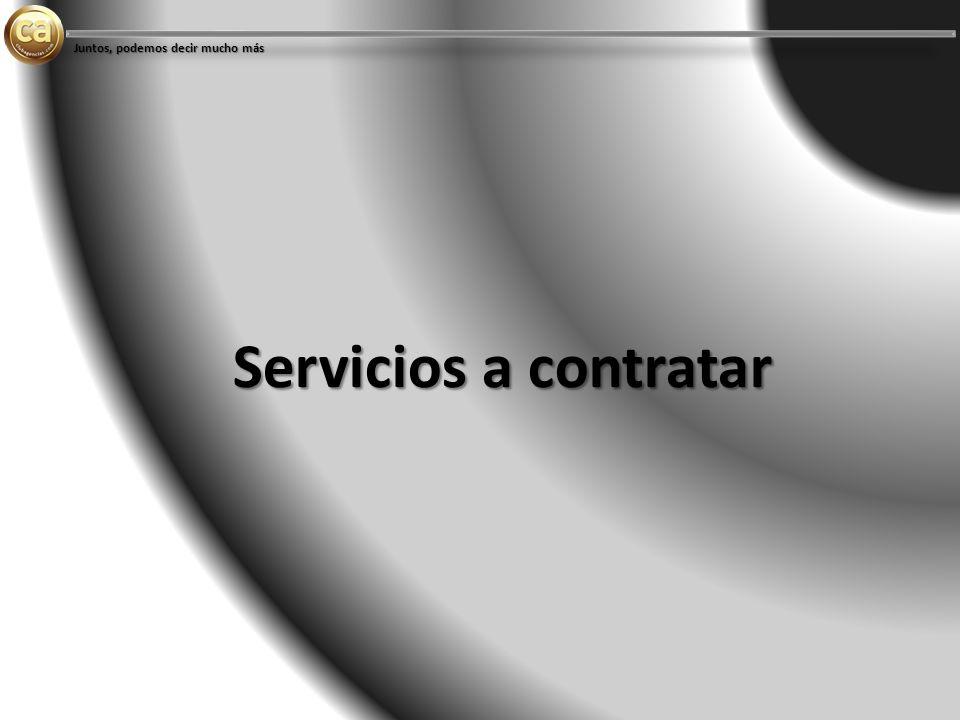 Servicios a contratar