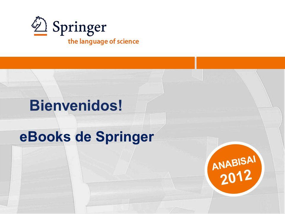 Bienvenidos! ANABISAI 2012 eBooks de Springer